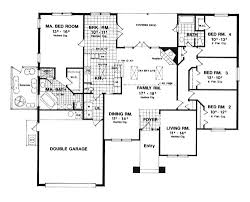 Contemporary House Plan   Bedrooms and   Baths   Plan First Floor Plan