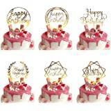 iZoeL Cake Decoration Gold Happy Birthday Topper <b>Castle</b> Confetti ...
