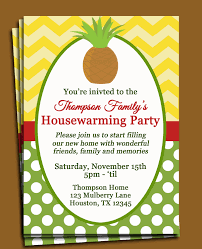 pineapple invitation printable or printed shipping new housewarming invitation wording google search