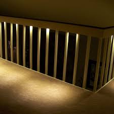 stair lights under rails application lamps staircase