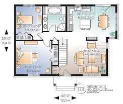 House plan W detail from DrummondHousePlans com    st level Bright  bedroom  single storey Small Craftsman house plan   cathedral ceiling