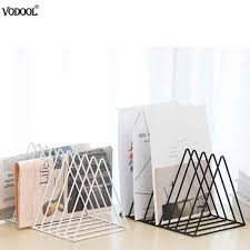 Solid 9 <b>Grid File Storage Shelf</b> Book Stand Desktop Nordic Wrought ...