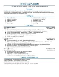 salon spa fitness resume examples salon spa fitness lead massage therapist resume sample