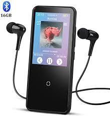 AGPTEK 16GB <b>Bluetooth</b> 4.0 MP3 Player 2.4<b>HD Screen</b> Touch ...