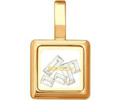 <b>Кулоны</b>, <b>Подвески</b>, <b>Медальоны Sokolov</b> 035354_S, Скидки Россия