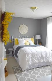 yellow and gray bedroom: guest bedroom gray white and yellow guest bedroom
