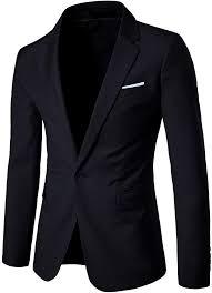 Men's <b>Suit Jacket One Button</b> Slim Fit Sport <b>Coat</b> Business Daily ...
