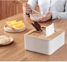 <b>Multifunction</b> Plastic Tissue Box Cover <b>wooden</b> lid Napkin Holder ...
