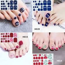<b>1 Sheet</b> Full Cover Toe Nail Art Glitter Toenail Sticker Sparkling Foot ...