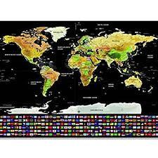 Buy 1pcs <b>Deluxe</b> Erase <b>Black</b> World Map Scratch off World Map ...