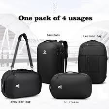 <b>OZUKO</b> men multi-functional backpack big capacity travel bag ...