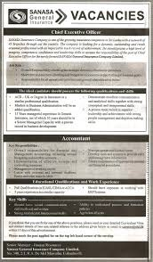 chief executive officer accountant job description vacancy for chief executive officer vacancy for accountant chif excecutive officer sanasa general insurance