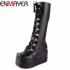 Wholesale <b>ENMAYER</b> ShoesNew <b>Motorcycle Boots</b> Gothic Punk ...