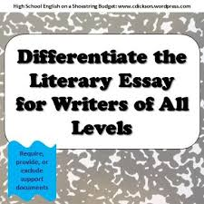 images about high school english  on pinterest   constructed    how to differentiate with literary essay writing  english elahigh school