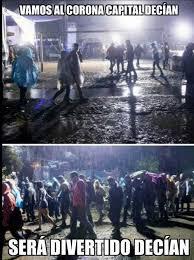 Entre lluvia y lodo, los memes del Corona Capital | ADN ... via Relatably.com