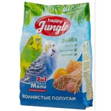 Корм для птиц <b>Happy Jungle</b> Biomix 3 in 1 Daily Menu <b>волнистые</b> ...