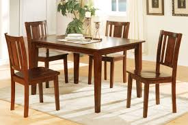 Five Piece Dining Room Sets 5 Piece Dining Table Set Cherry Finish Huntington Beach Furniture