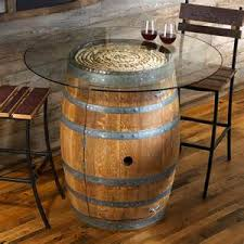 reclaimed wine barrel furniture wine barrel table with glass top arched napa valley wine barrel