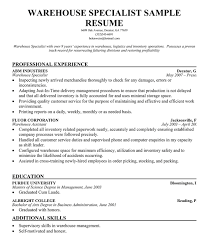 abilities for resume examples  warehouse logistics resume sample    warehouse logistics resume sample