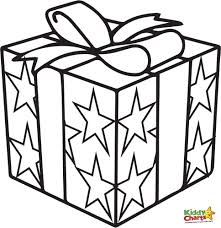 christmas present coloring pages com present box coloring page