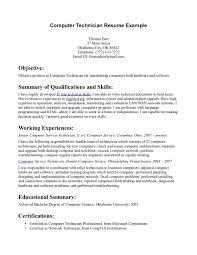 laptop technician resume hvac resume resume format pdf