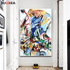 Canvas Art Print Painting Poster, <b>Wassily Kandinsky Geometric</b> ...