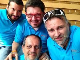 De Gauche à droite, Francesco Bruno (Venise) , Massimo Maci Zava (Milan) , Claudio Giacomini (Venise) et Bibi. - 97102745