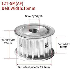 without <b>1pc 12 Teeth</b> 5M Timing Pulley Bore5/6/8/10mm Fit W ...