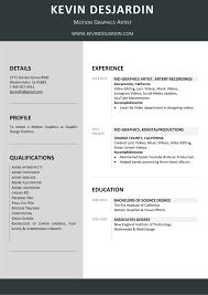 resume motion graphics artist