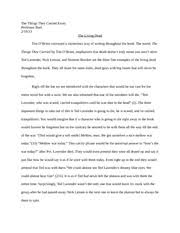 the things they carried outline essay   thesis statement    the things they carried essay  middot   pages the living dead essay