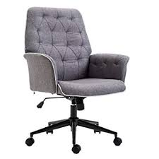 Amazon.com: HOMCOM <b>Adjustable</b> Modern <b>Linen Upholstered</b> ...