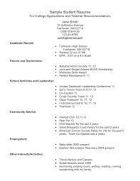 sample resume format for high school students template high school resume format