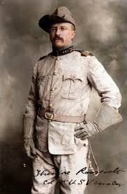 best ideas about theodore roosevelt teddy theodore roosevelt in his rough riders uniform his signature blue polka dotted scarf