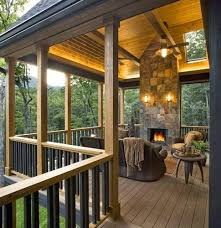 covered patio freedom properties: covered deck with fireplace  covered deck with fireplace