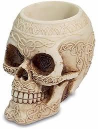 <b>Gothic Skull</b> Pen Pot <b>Gothic</b> Decor <b>Halloween</b>: Amazon.co.uk ...