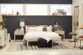 master bedroom feature wall:  feature throughout the most master bedroom target chapter  navy blue accent wall bedroom makeover emily for master bedroom