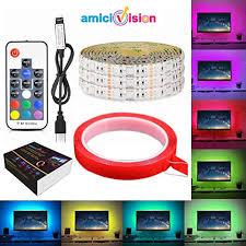 Buy amiciVision <b>USB</b> 5V Waterproof <b>5050 RGB LED</b> Strip 120 <b>LED</b> ...