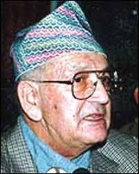 Surya Bahadur Thapa. Mr Thapa returns for a fifth term (photo courtesy of Kantipur Online) - _39121022_thapa203
