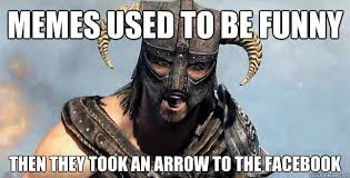 Memes used to be funny then they took an arrow to the facebook ... via Relatably.com