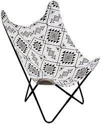 THE HOME DECO FACTORY Ethnic <b>Butterfly Chair Black and</b> White ...