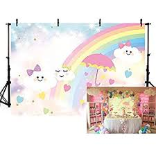 YEELE 7x5ft Cartoon Cloud Rainbow Backdrop Little ... - Amazon.com