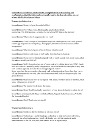 target audience research interview transcripts