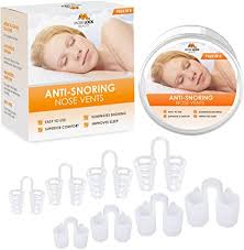 Pack of 8 Medical Grade <b>Silicone</b> Cone Vents, <b>Anti Snoring Nose</b>