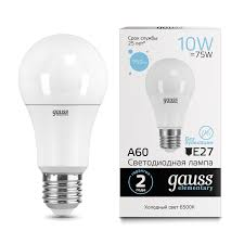 <b>Лампа Gauss LED</b> Elementary <b>A60</b> 10W E27 6500K - Gauss ...