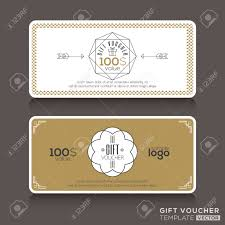 gift certificate voucher coupon template line art hipster gift certificate voucher coupon template line art hipster design stock vector 39654143