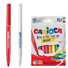 """<b>Фломастеры CARIOCA</b> """"<b>Erasable</b>"""", 10 штук, 9 цветов + 1 ..."""