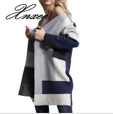 2019 <b>sweater</b> female patchwork <b>cardigan</b> loose long sleeve large ...