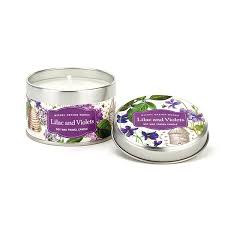 <b>Michel Design Works Lilac</b> & Violets Travel Candle Candles ...