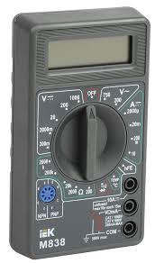 Купить <b>мультиметр</b> цифровой <b>universal m838 iek</b> во ...