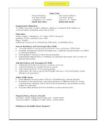 Sales representative resume no experience